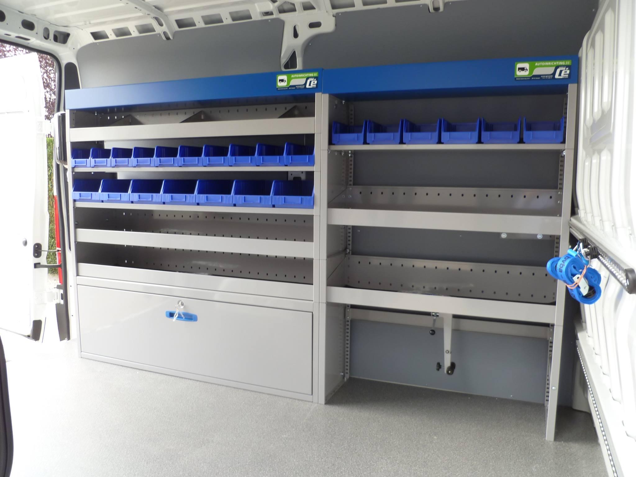 Vancare bedrijfswageninrichting inrichting bestelwagen for Ladeblok garage